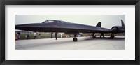 Framed Lockheed SR-71 Blackbird on a runway