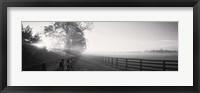 Framed Ranch at dawn, Woodford County, Kentucky, USA