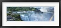 Framed Tourists at a waterfall, Niagara Falls, Niagara River, Niagara County, New York State, USA