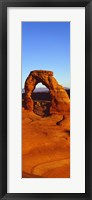 Framed Natural arch in a desert, Arches National Park, Utah