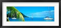 Framed Sailboats in the ocean, Tahiti, Society Islands, French Polynesia (horizontal)