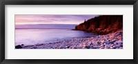 Framed Sunset over the coast, Acadia National Park, Maine