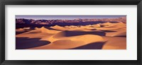 Framed Orange Sand Dunes, Death Valley National Park, California, USA