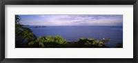 Framed Island in an ocean, Papagayo Peninsula, Costa Rica