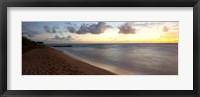 Framed Sunrise over an ocean, Waipouli Beach, Kauai, Hawaii, USA