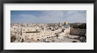 Framed Wailing Wall, Jerusalem, Israel