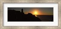 Framed Lighthouse on the coast, Cape Sao Vincente, Sagres, Algarve, Portugal