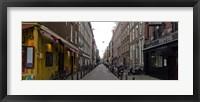 Framed Restaurants in a street, Amsterdam, Netherlands