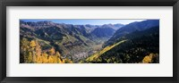 Framed High angle view of a valley, Telluride, San Miguel County, Colorado, USA