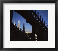 Framed Low angle view of a cathedral, Duomo Di Milano, Milan, Lombardy, Italy