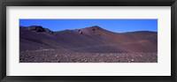 Framed Trail in volcanic landscape, Sliding Sands Trail, Haleakala National Park, Maui, Hawaii, USA