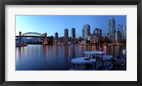 Framed Skyscrapers at the waterfront, Burrard Bridge, False Creek, Vancouver, British Columbia, Canada 2011