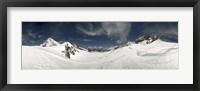 Framed Low angle view of a glacier, Aletsch Glacier, Jungfraujoch, Berne Canton, Switzerland