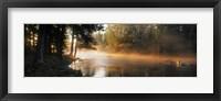 Framed Fog over a river, Dal River, Sweden