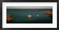 Framed Boats in the sea, Esterel Massif, French Riviera, Provence-Alpes-Cote d'Azur, France
