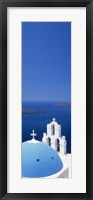 Framed High angle view of a church, Firostefani, Santorini, Cyclades Islands, Greece