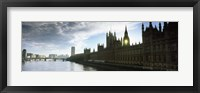 Framed Houses of Parliament at the waterfront, Thames River, London, England