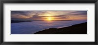 Framed Sunset over a lake, Loch Lomond, Argyll And Bute, Scotland