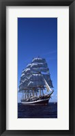 Framed Tall ships race in the ocean, Baie De Douarnenez, Finistere, Brittany, France