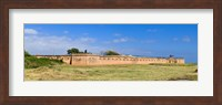 Framed Fort Gaines on Dauphin Island, Alabama, USA