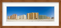 Framed Beachfront buildings on Gulf Of Mexico, Orange Beach, Baldwin County, Alabama, USA