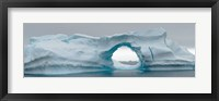 Framed Blue iceberg with hole, Antarctica