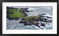 Framed Golf course on an island, Pebble Beach Golf Links, Pebble Beach, Monterey County, California, USA