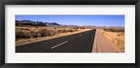 Framed Road passing through a desert, Keetmanshoop, Windhoek, Namibia