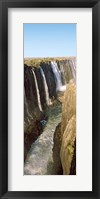 Framed Water falling through rocks in a river, Victoria Falls, Zimbabwe