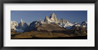 Framed Mountains, Mt Fitzroy, Cerro Torre, Argentine Glaciers National Park, Patagonia, Argentina