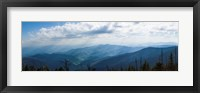 Framed Clouds over mountains, Great Smoky Mountains National Park, Blount County, Tennessee, USA