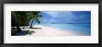 Framed Palm trees on the beach, Tapuaetai, Aitutaki, Cook Islands