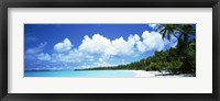 Framed Clouds over an island, Akaiami, Aitutaki, Cook Islands