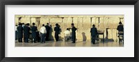 Framed People praying at Wailing Wall, Jerusalem, Israel