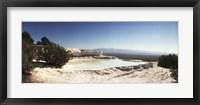 Framed Hot springs and Travertine Pool, Pamukkale, Turkey