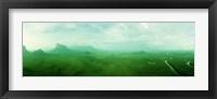 Framed Aerial View Of Green Misty Landscape, Autana Tepuy, Venezuela