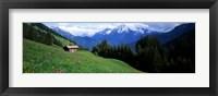Framed Austria, Zillertaler, cabin