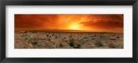 Framed Sunset over a desert, Palm Springs, California, USA