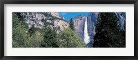 Framed Yosemite Falls Yosemite National Park CA USA