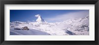 Framed Hotel on a polar landscape, Matterhorn, Zermatt, Switzerland