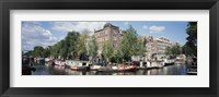 Framed Netherlands, Amsterdam, intersecting channels