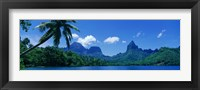 Framed Lush Foliage And Rock Formations, Moorea Island, Tahiti
