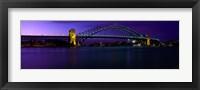 Framed Australia, Sydney, Harbor Bridge