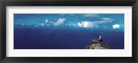 Framed Hiker Pali Kokee State Park Kauai HI USA