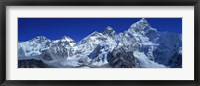 Framed Himalaya Mountains (Mt Everest), Nepal