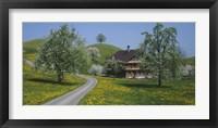 Framed road through Zug, Switzerland