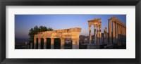 Framed Turkey, Pergamum, temple ruins