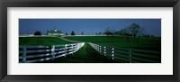 Framed USA, Kentucky, Lexington, horse farm