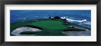 Framed Pebble Beach Golf Course 8th Green Carmel CA