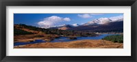 Framed Lake on mountainside, Loch Tulla, Rannoch Moor, Argyll, Scotland